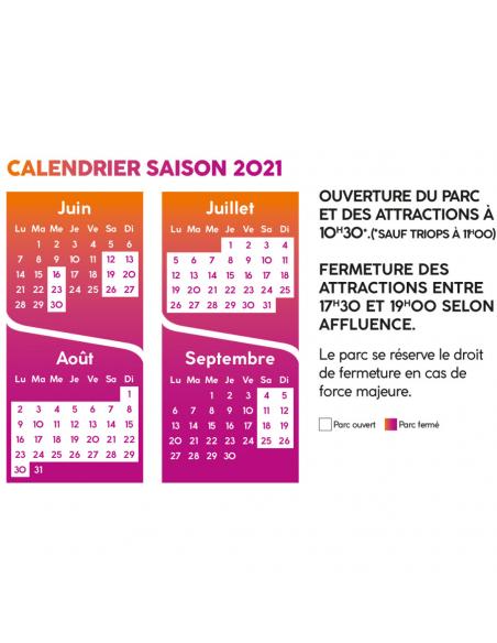 Calendrier saison 2021 Bagatelle
